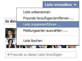 Facebook Liste zusammenführen: So funktioniert das Verbinden und Löschen von Listen