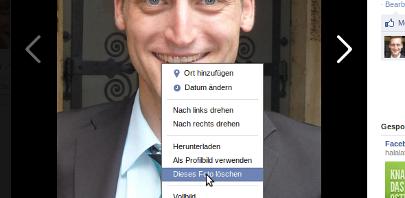 Facebook Chronik: Profilbilder löschen