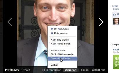 Facebook Chronik: Hier löschen Sie ein Profilbild